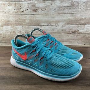 Nike Free 5.0 Blue Running Shoe